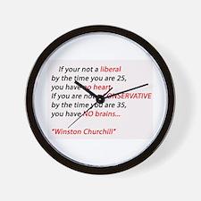 Conservatism Wall Clock