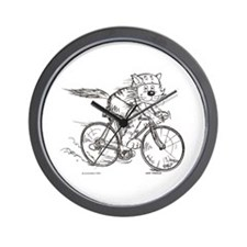 Bicycle Cat Wall Clock