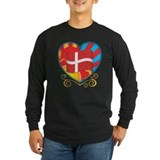 Copenhagen heart Long Sleeve T Shirts