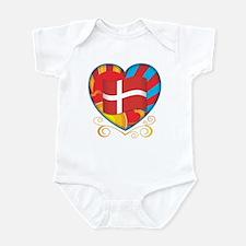 Danish Heart Infant Bodysuit