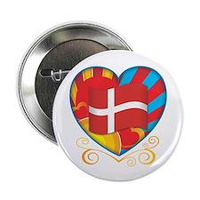 """Danish Heart 2.25"""" Button"""