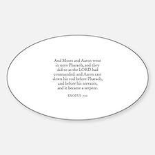 EXODUS 7:10 Oval Decal