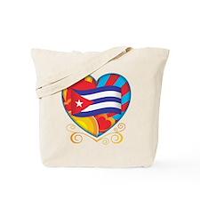 Cuban Heart Tote Bag