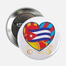 """Cuban Heart 2.25"""" Button"""