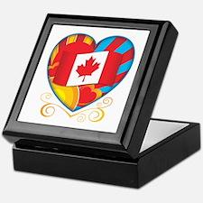 Canadian Heart Keepsake Box