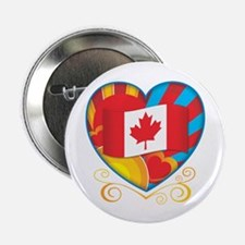 "Canadian Heart 2.25"" Button"