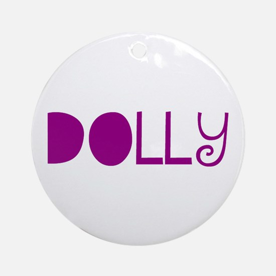 Dolly Ornament (Round)