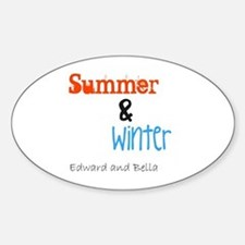 Edward and Bella Oval Decal