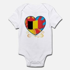 Belgian Heart Infant Bodysuit