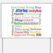 All Swing Dances Yard Sign