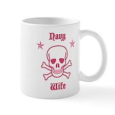 Pink Skull Navy Wife Mug