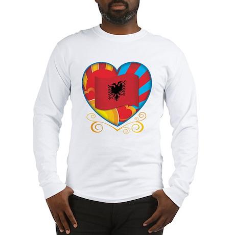 Albanian Heart Long Sleeve T-Shirt