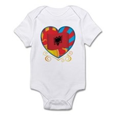 Albanian Heart Infant Bodysuit