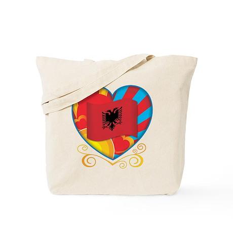 Albanian Heart Tote Bag