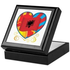 Albanian Heart Keepsake Box