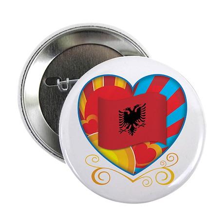 """Albanian Heart 2.25"""" Button (100 pack)"""