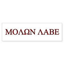 """Molon Labe (""""Come take them"""") Bumper Bumper Sticker"""