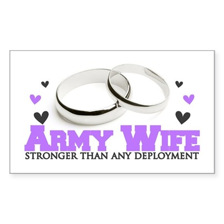 Stronger than any deployment: Army Sticker (Rectan