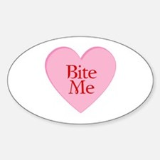 Twilight Vampire Valentine Oval Decal