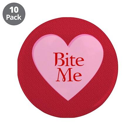 """Twilight Vampire Valentine 3.5"""" Button (10 pack)"""