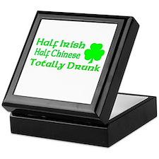 Half Irish Half Chinese Total Keepsake Box