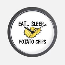 Eat ... Sleep ... POTATO CHIPS Wall Clock