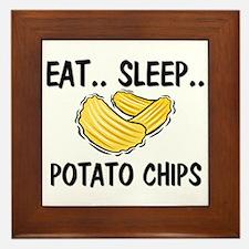 Eat ... Sleep ... POTATO CHIPS Framed Tile