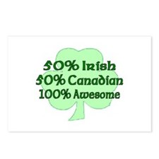 50% Irish 50% Canadian 100% A Postcards (Package o