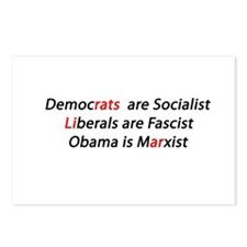 Liberal Liar Democrats Postcards (Package of 8)