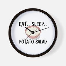 Eat ... Sleep ... POTATO SALAD Wall Clock