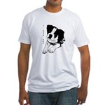 I Love You - Boston Terrier Fitted T-Shirt
