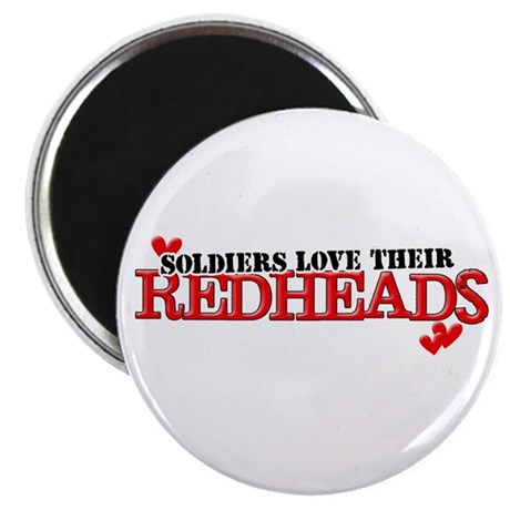 Soldiers love their redheads Magnet
