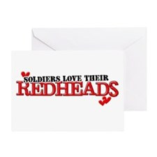 Soldiers love their redheads Greeting Card
