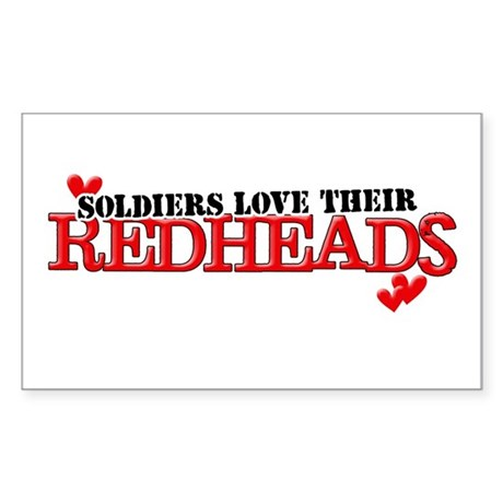 Soldiers love their redheads Rectangle Sticker