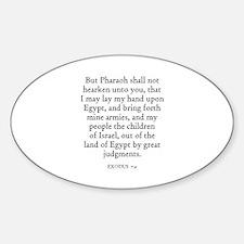 EXODUS 7:4 Oval Decal