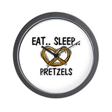 Eat ... Sleep ... PRETZELS Wall Clock