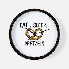 Eat ... Sleep ... PRETZELS Wall Clock