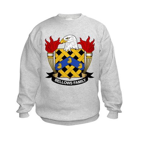 Bellows Family Crest Kids Sweatshirt