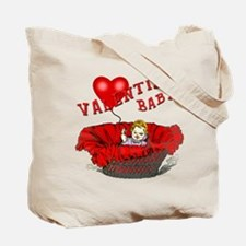 Pink Hearts Valentine Baby Tote Bag