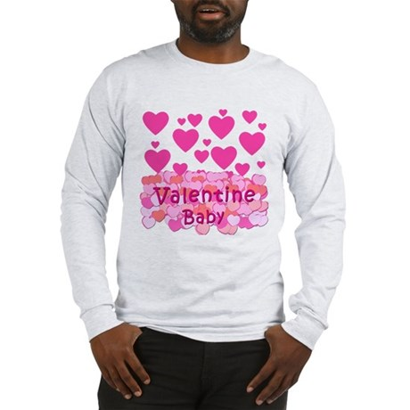 Pink Hearts Valentine Baby Long Sleeve T-Shirt