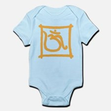 Orange Om Infant Bodysuit