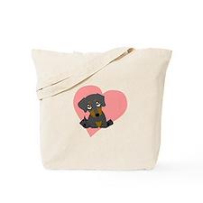 Cute Dachshund puppy Tote Bag
