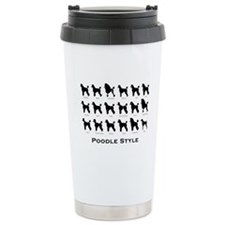 Poodle Styles: Black Travel Mug