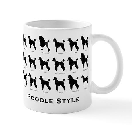 Poodle Styles: Black Mug