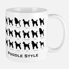 Poodle Styles: Black Small Small Mug