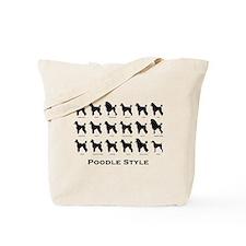Poodle Styles: Black Tote Bag