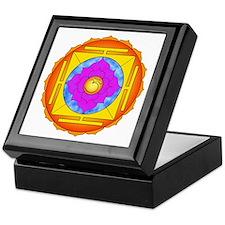 Om Lotus Yantra Keepsake Box