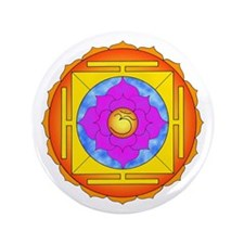 "Om Lotus Yantra 3.5"" Button"