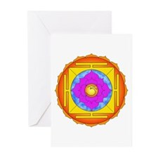 Om Lotus Yantra Greeting Cards (Pk of 10)
