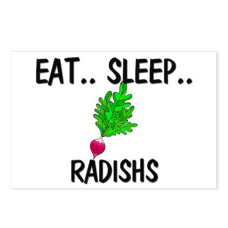 Eat ... Sleep ... RADISHS Postcards (Package of 8)